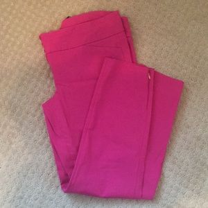 Hot pink exact stretch ankle pants